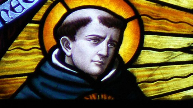 Thomas Aquinas in Stained Glass